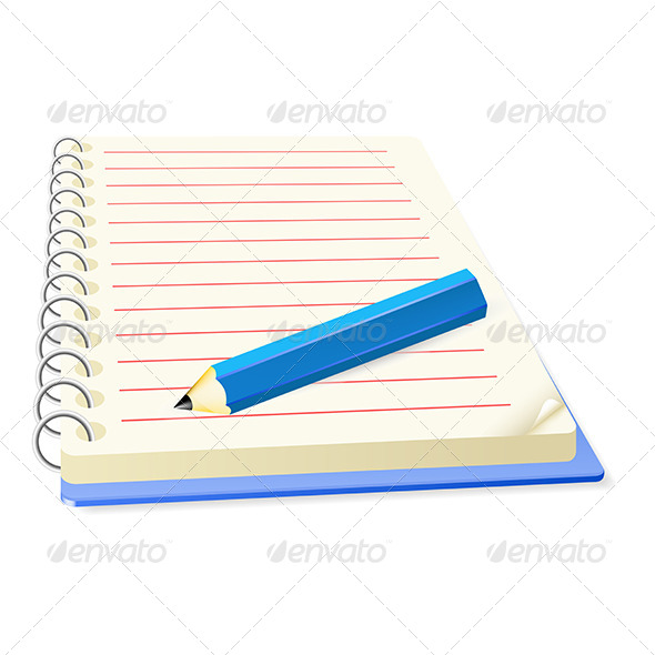GraphicRiver Pencil and Notepad 5163205