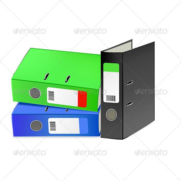GraphicRiver Multi-Colored Office Folders 5163237