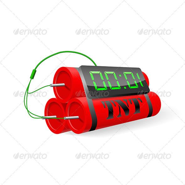 GraphicRiver Explosives with Digital Alarm Clock 5163265