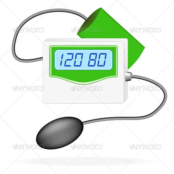 GraphicRiver Digital Blood Pressure Monitor 5163268