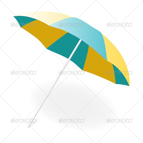 GraphicRiver Beach Umbrella 5163273