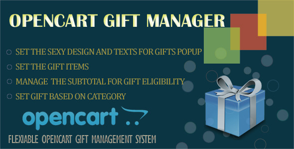 Opencart Gift Manager - CodeCanyon Item for Sale