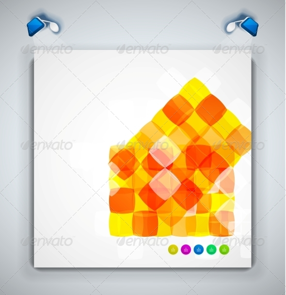 Abstract Squares Geometrical Modern Template