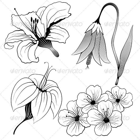 GraphicRiver Flowers Set 5163406