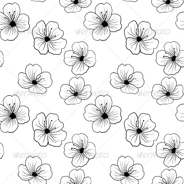 GraphicRiver Floral Seamless Pattern 5163407