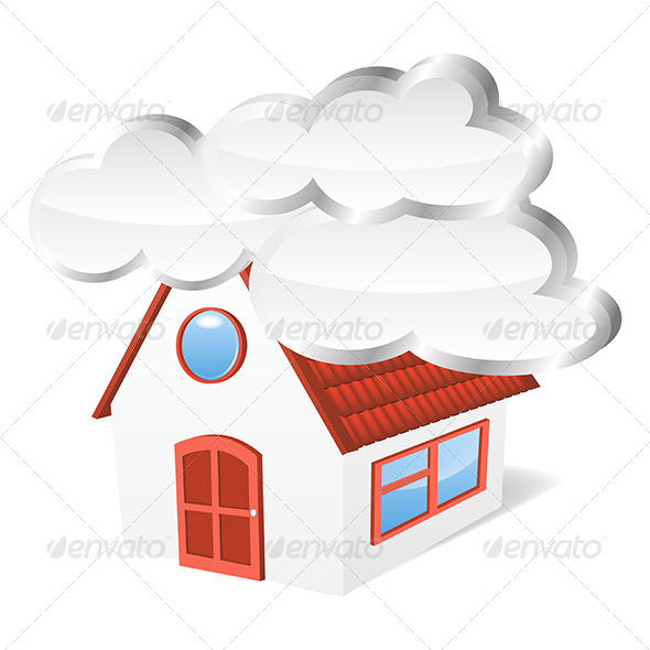 GraphicRiver House with Clouds 5163416