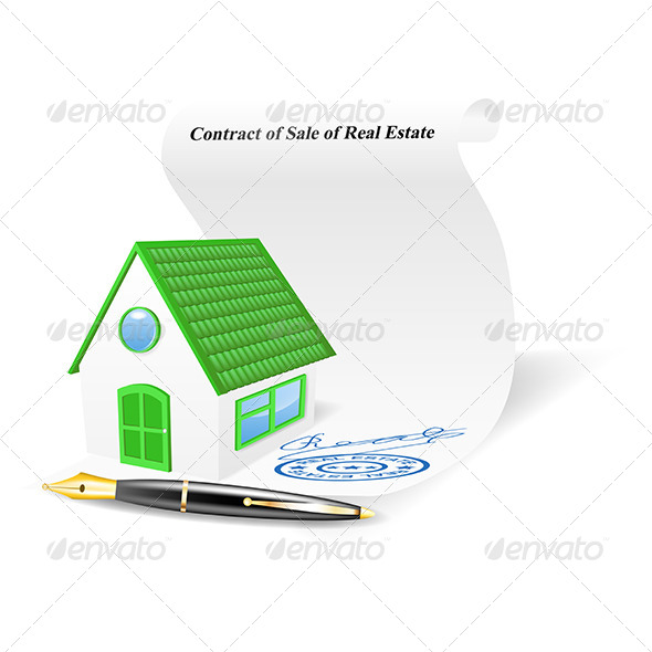 House with Contract of Sale of Real Estate