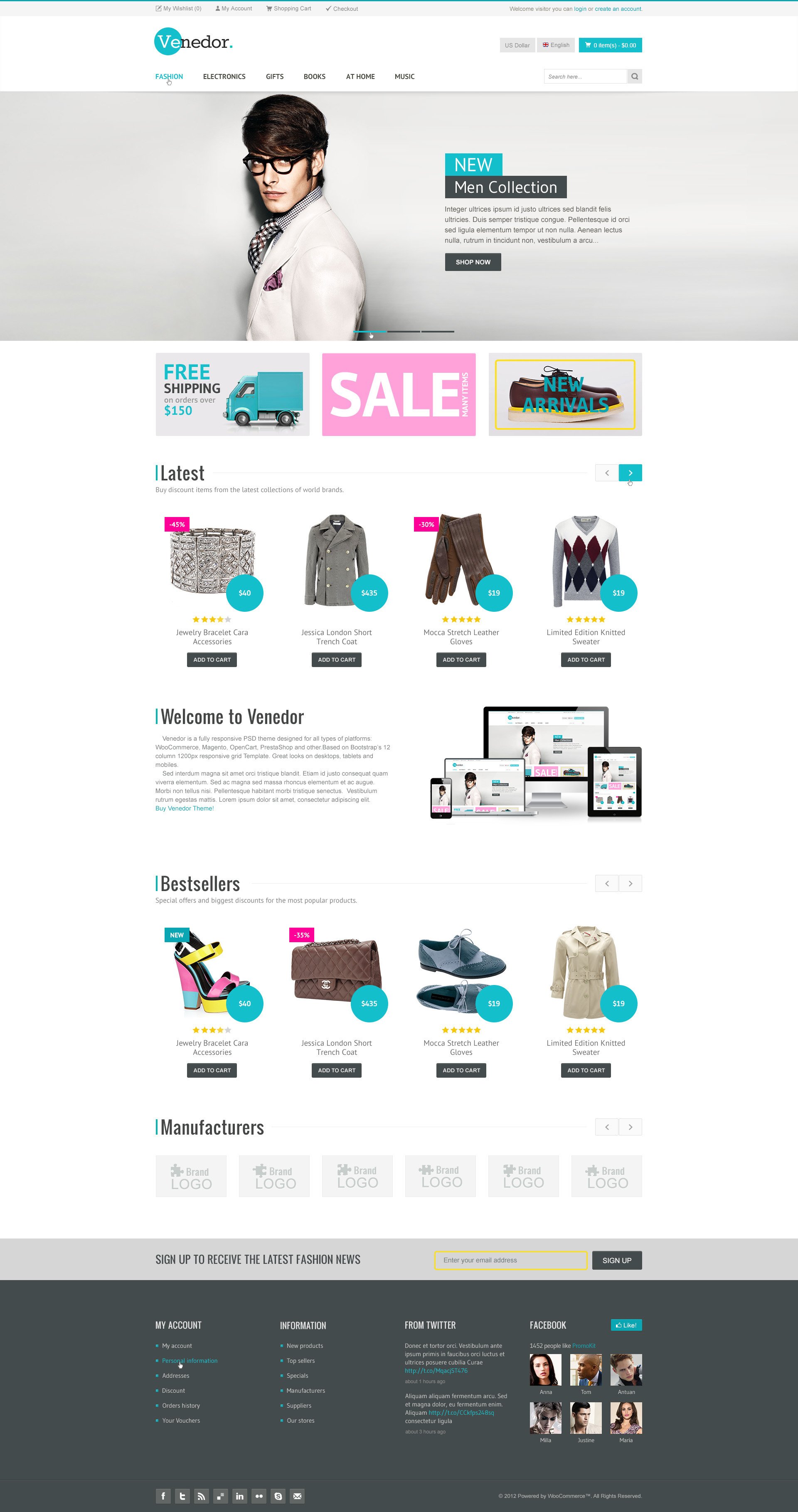 Venedor - Bootstrap Responsive eCommerce PSD
