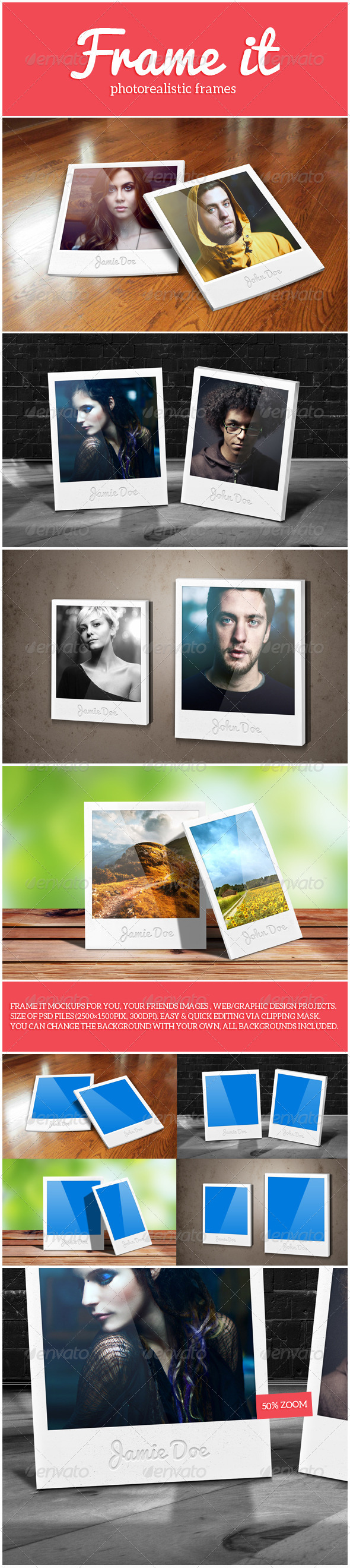 Frame It Mockups - Photo Templates Graphics