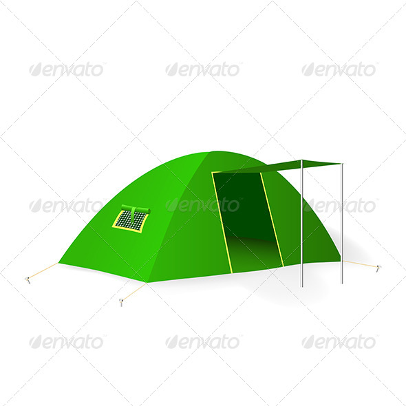 GraphicRiver Green Tourist Tent 5163584
