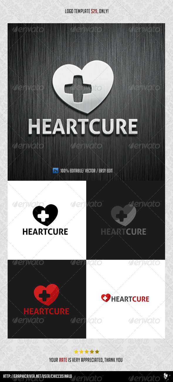 Heart Cure Logo Template  - Abstract Logo Templates