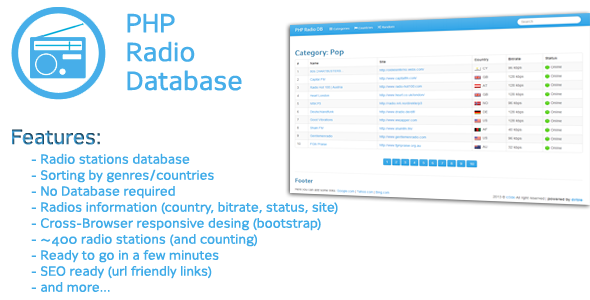 CodeCanyon PHP Radio Stations Database 5163761