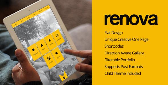 ThemeForest RENOVA Wordpress One Page Responsive Portfolio 5163774