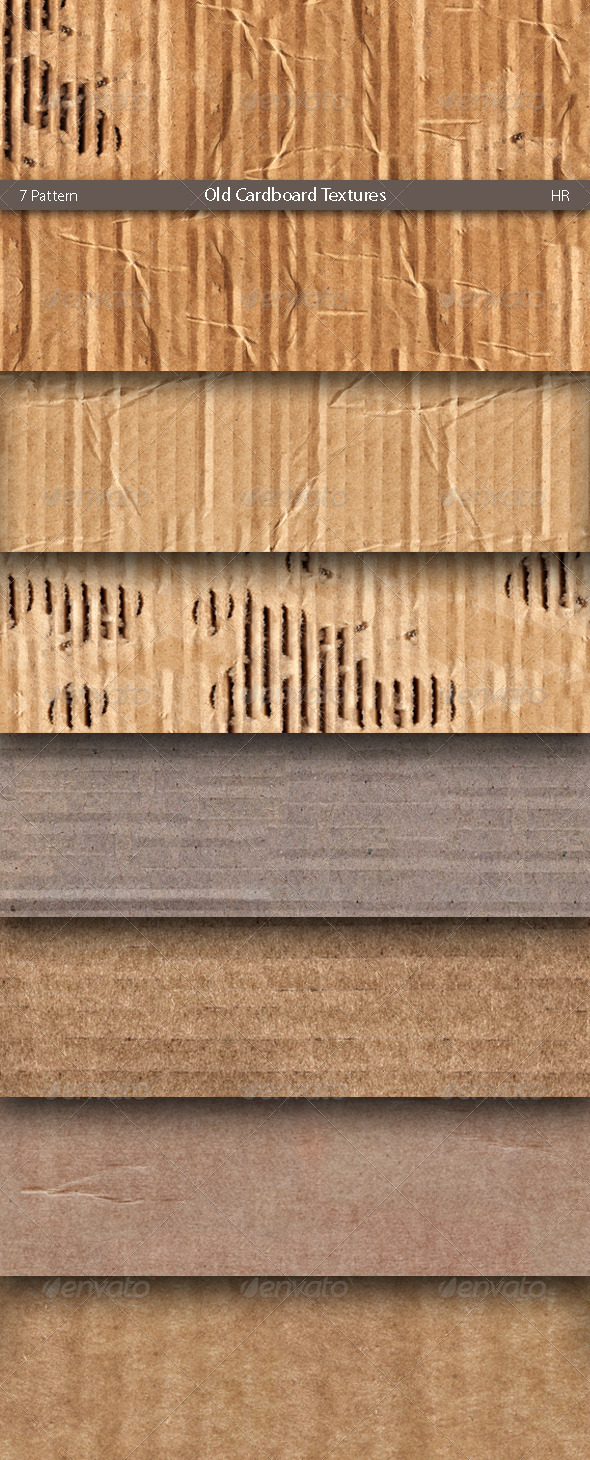 3DOcean Old Cardboard Surface Textures 5163775