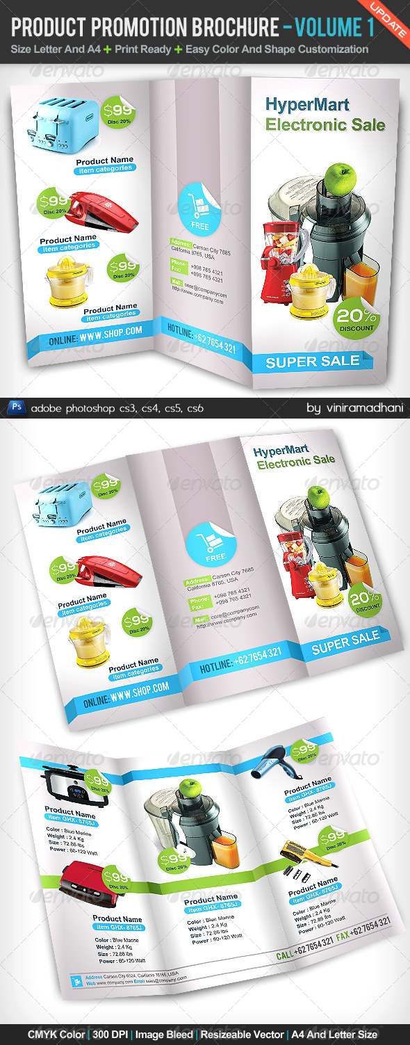 GraphicRiver Product Promotion TriFold Brochure Volume 1 5163853