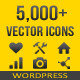 5,000+ Vector Icons - WordPress - CodeCanyon Item for Sale