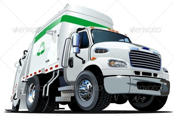 GraphicRiver Cartoon Garbage Truck 5163881
