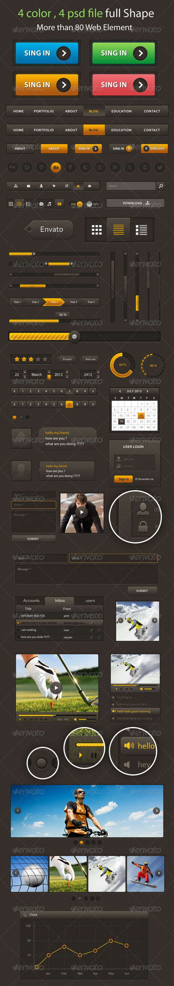 GraphicRiver Web Element Creative UI 5163991