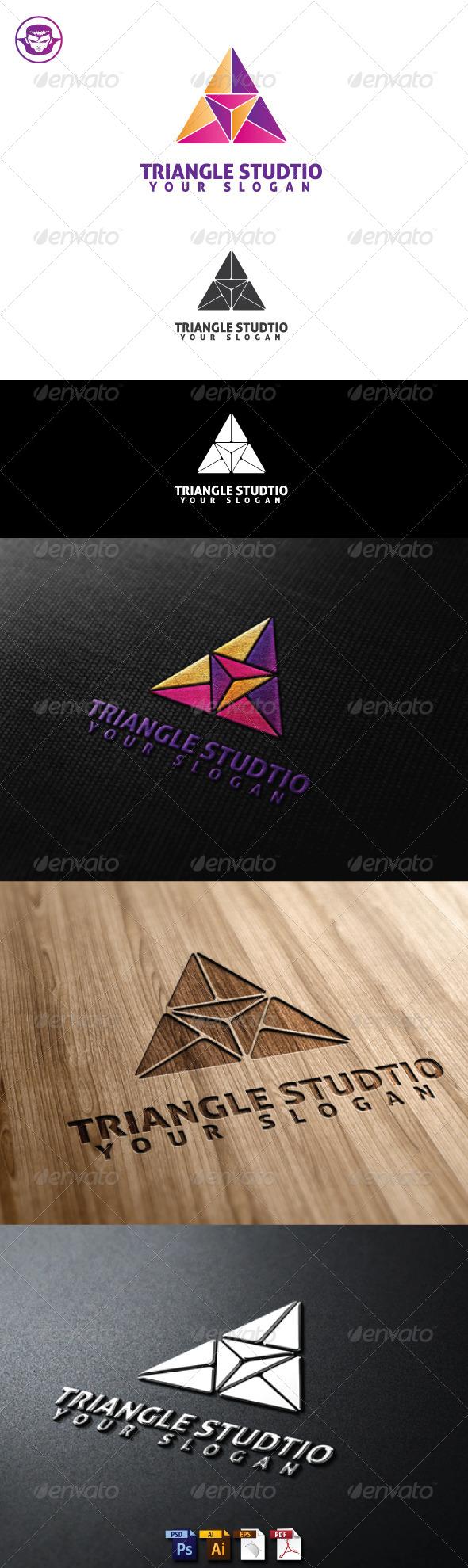GraphicRiver Triangle Studio Logo Template 5164205