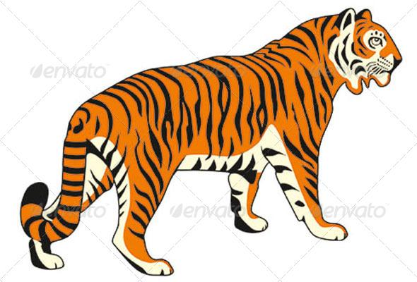 GraphicRiver Tiger Vector Image 5159475