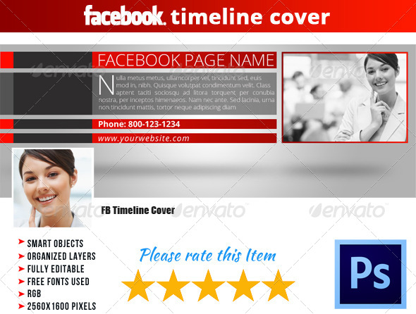 GraphicRiver Corporate FB Timeline Cover 08 5164670