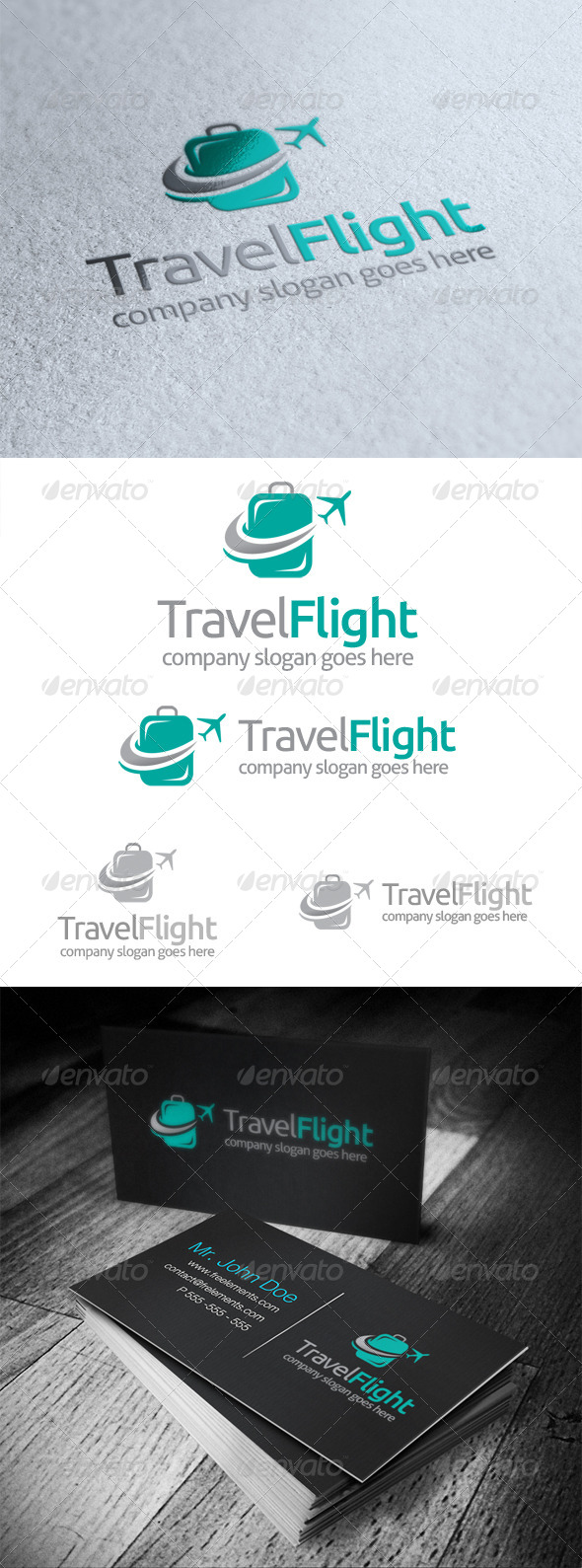 GraphicRiver Travel Flight Logo 5164772
