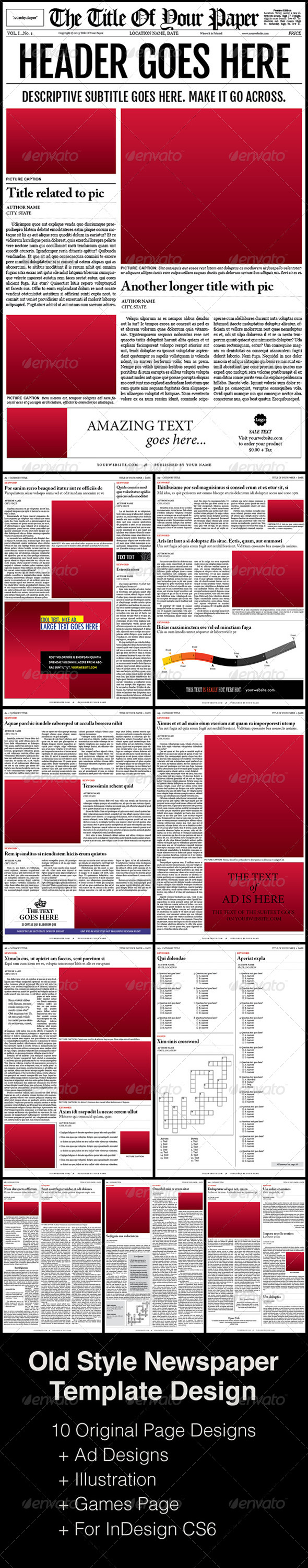 GraphicRiver Old Style Newspaper Template 5068743