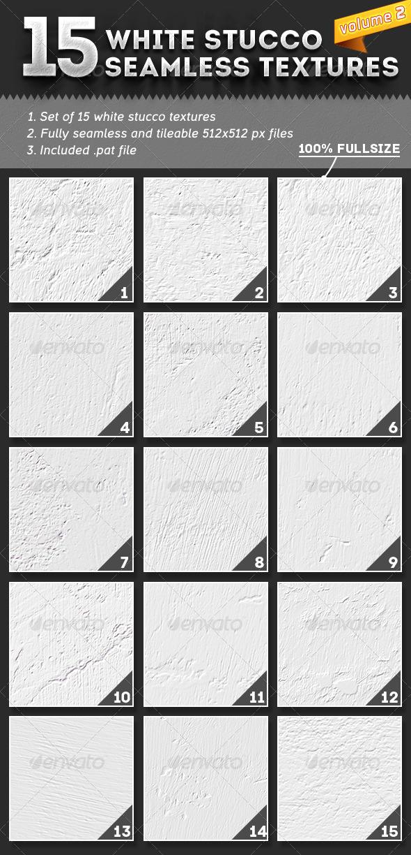 GraphicRiver 15 Seamless White Stucco Textures Vol.2 5164857