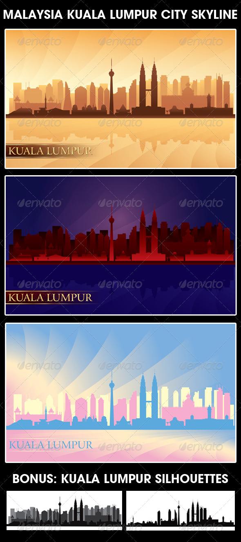 GraphicRiver Kuala Lumpur City Vector Illustration Set 5164968