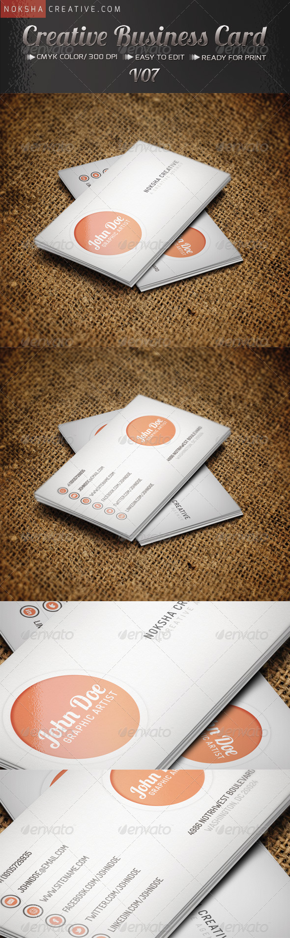 Creative Business Card V07 - Creative Business Cards