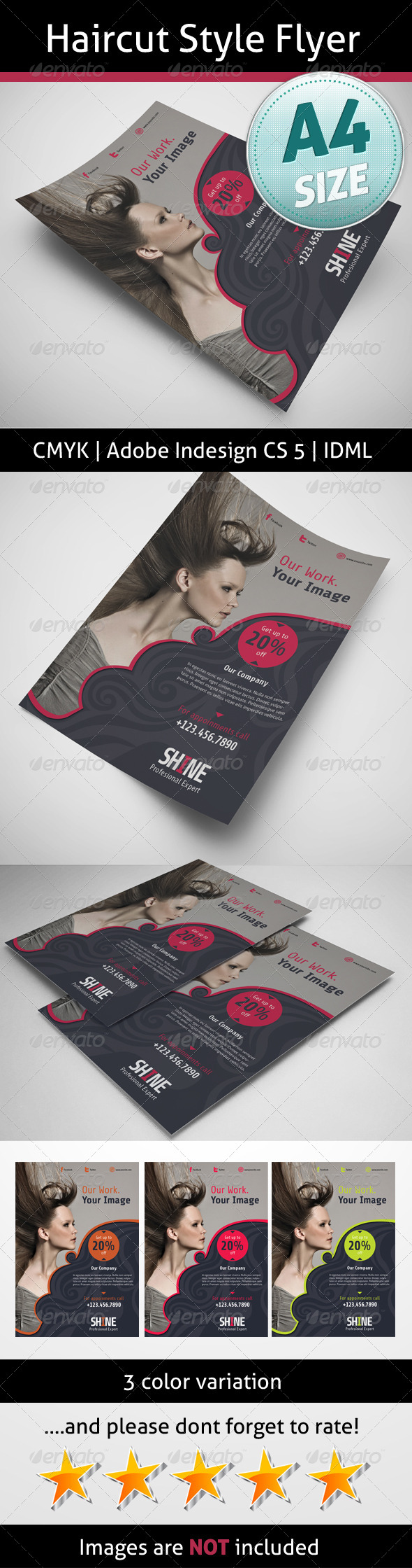 GraphicRiver Haircut Style Flyer 5165359