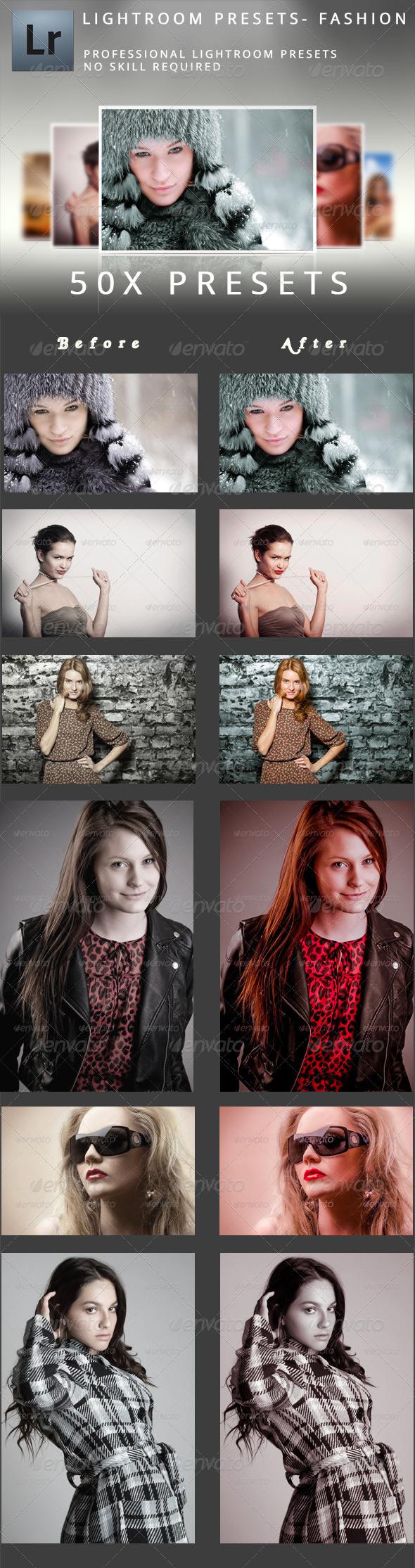 GraphicRiver 50 Fashion Presets 5165386