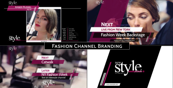 Broadcast Design Fashion TV Channel Package