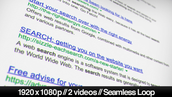 Internet Search Engine Results 2 Looped Styles
