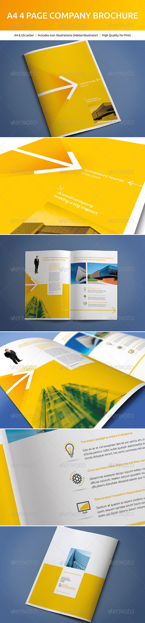 GraphicRiver A4 4 Page Company Brochure 5165979