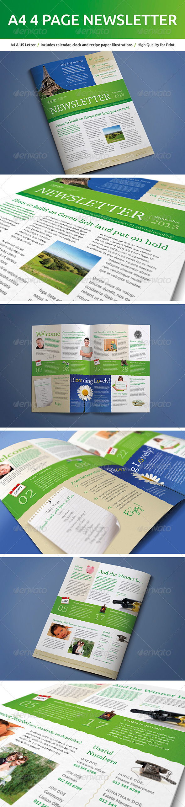 GraphicRiver A4 4 Page Newsletter 5166004