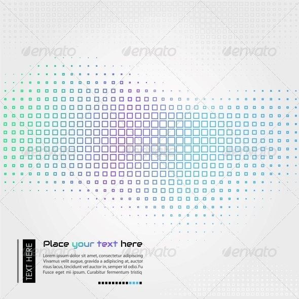Abstract Technology Background with Square Shapes