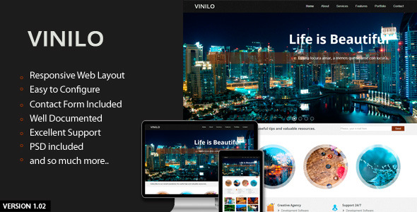 Vinilo - Responsive HTML Template
