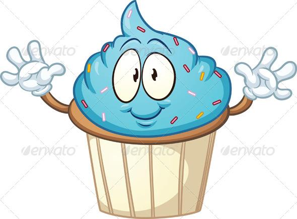 Cute Cartoon Cake Images : Cartoon Cupcake GraphicRiver