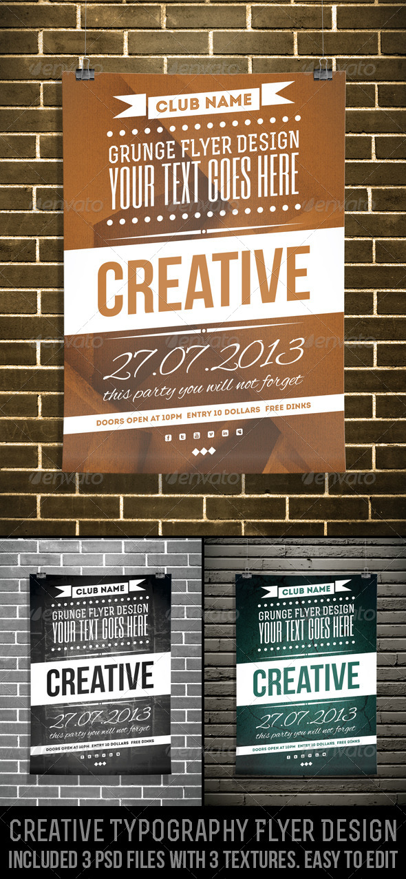 GraphicRiver Creative Typography Flyer Design 4804272