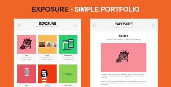 ThemeForest Exposure Simple portfolio 5134225