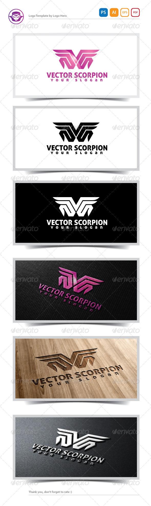 Vector Scorpion Logo Template