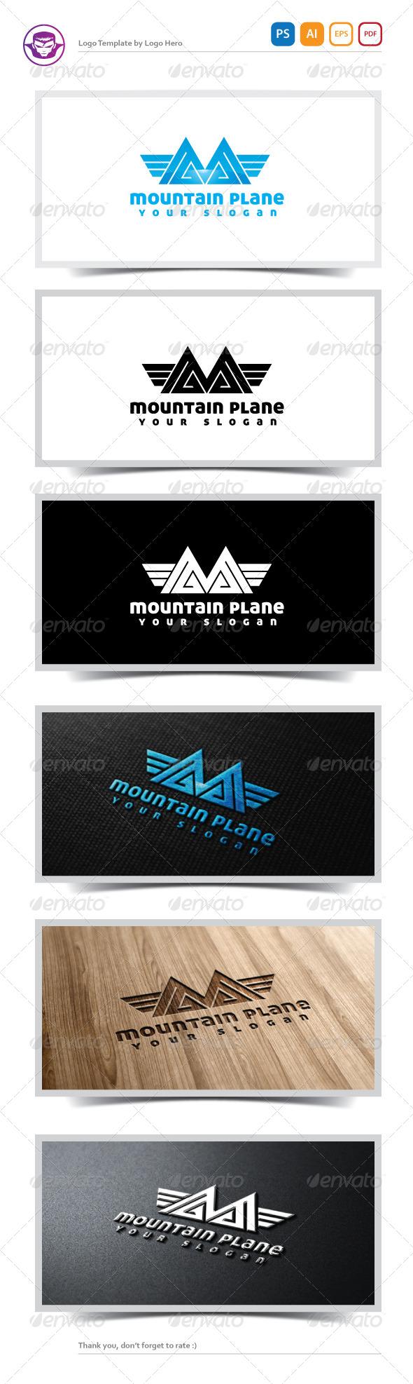 GraphicRiver Mountain Plane Logo Template 5166928
