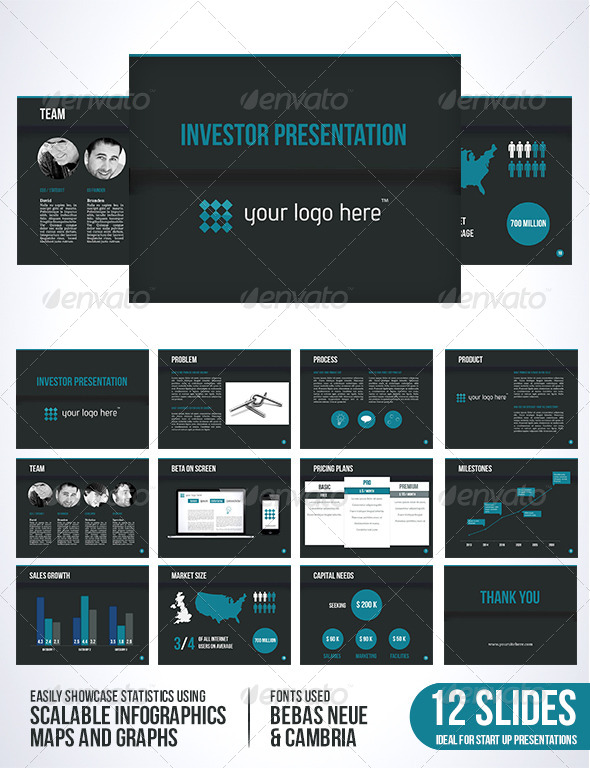 Investor Template Dark Edition - Presentation Templates