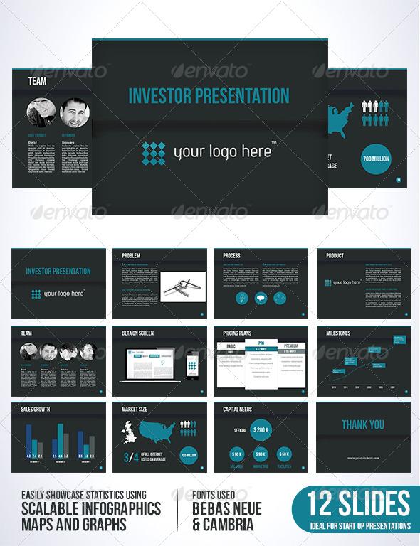 GraphicRiver Investor Template Dark Edition 5144653