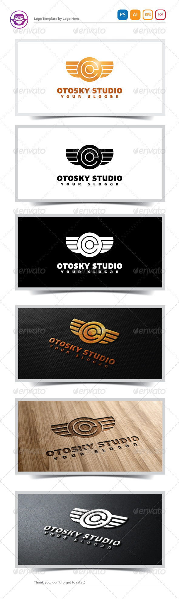 GraphicRiver Otosky Studio Logo Template 5167083