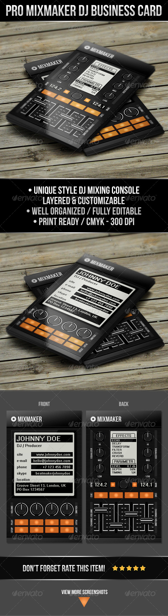 GraphicRiver Pro Mixmaker DJ Business Card 5105951