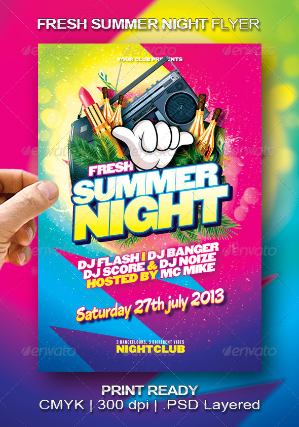 Fresh Summer Night Flyer