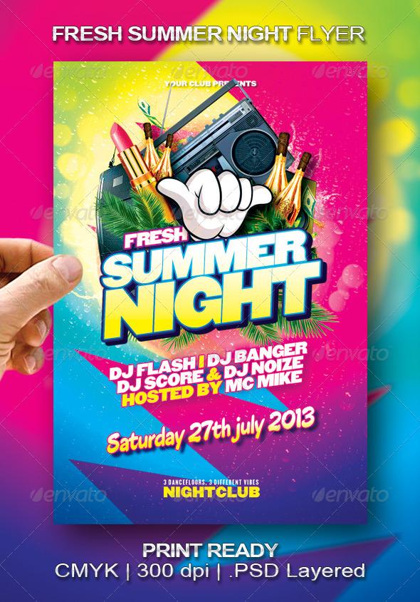 GraphicRiver Fresh Summer Night Flyer 5101953