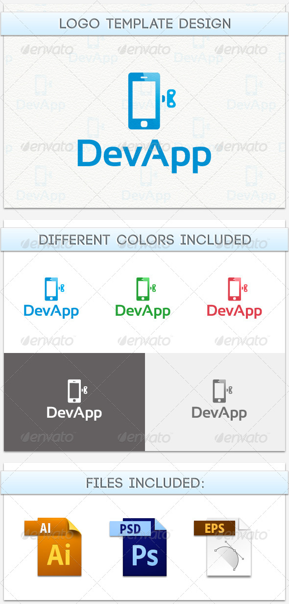 GraphicRiver Mobile Application Developers Logo 5157956